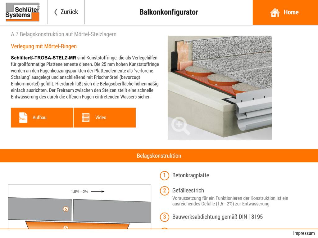 Schluter Systems Mit 4 Klicks Zum Richtigen Balkonaufbau 1200grad