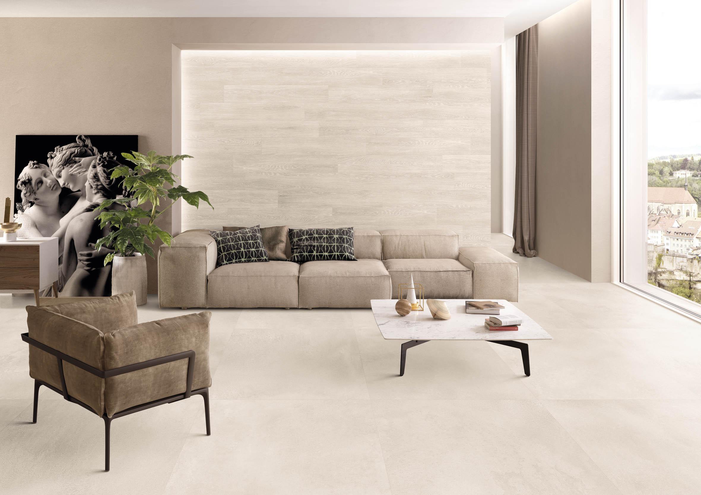 IGA Concept3 Wohnzimmer Beige 90×90 Beton ...