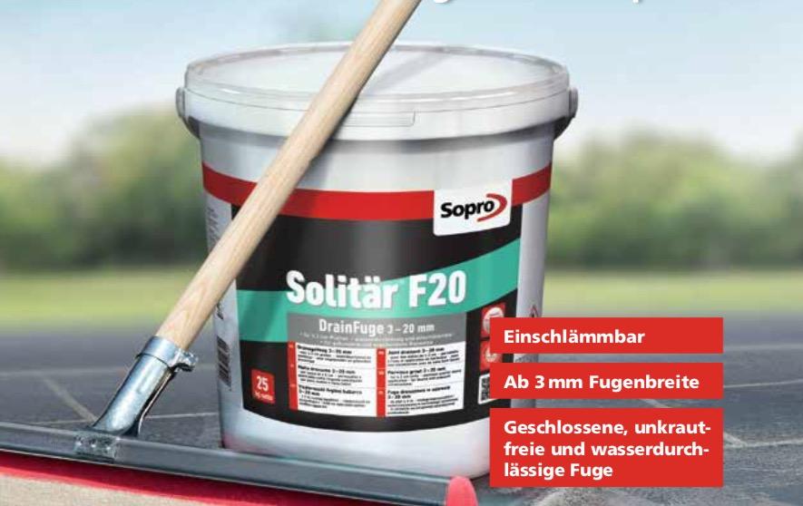 Sopro Solitär® F20: Feste Verfugung für ungebundene Verlegung