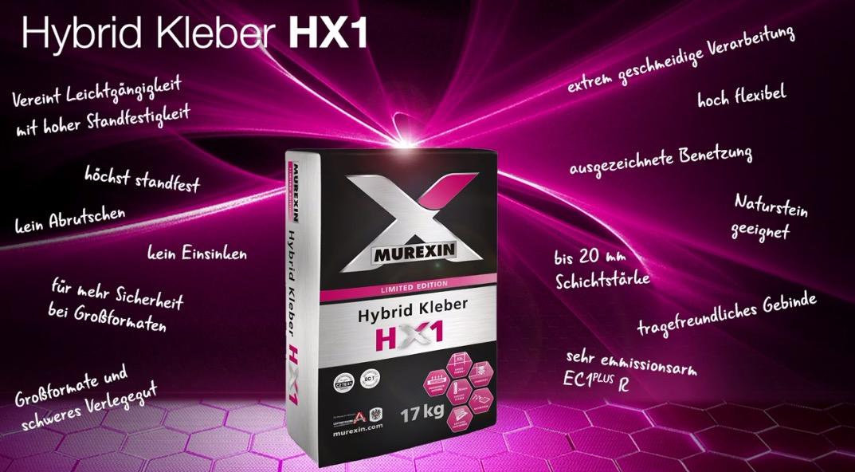 Fliesen verlegen mit Hybrid Kleber HX 1