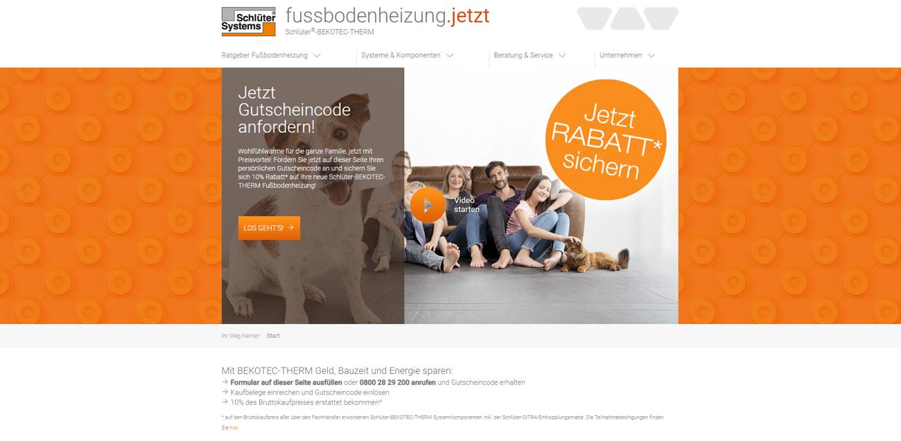 Schlüter-BEKOTEC-THERM: Kampagne für den Keramik-Klimaboden geht weiter